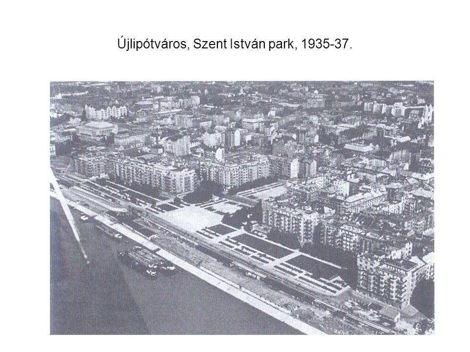 Újlipótváros, Szent István park, 1935-37.