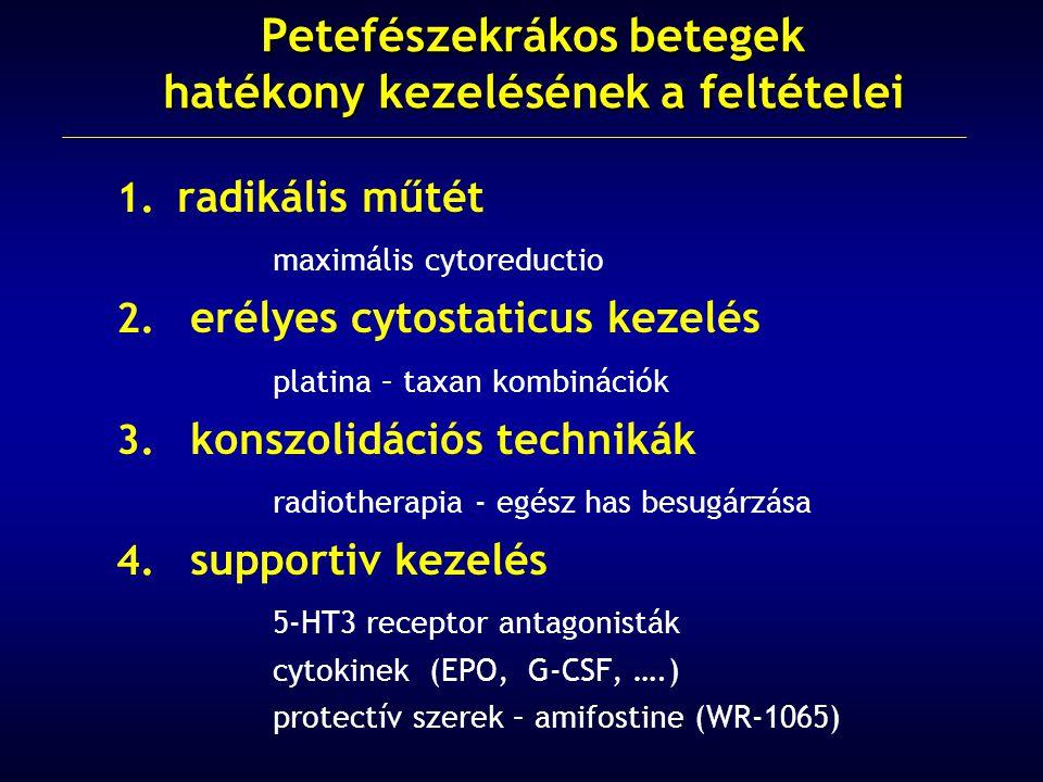 1.radikális műtét maximális cytoreductio 2.