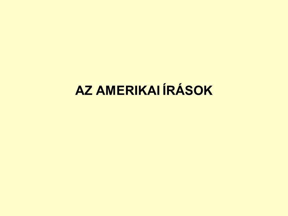 AZ AMERIKAI ÍRÁSOK