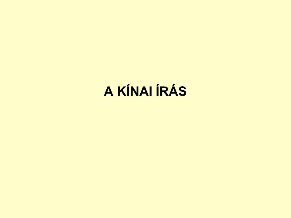 A KÍNAI ÍRÁS