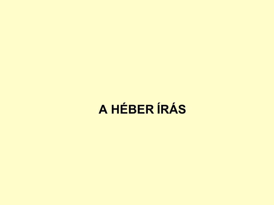 A HÉBER ÍRÁS