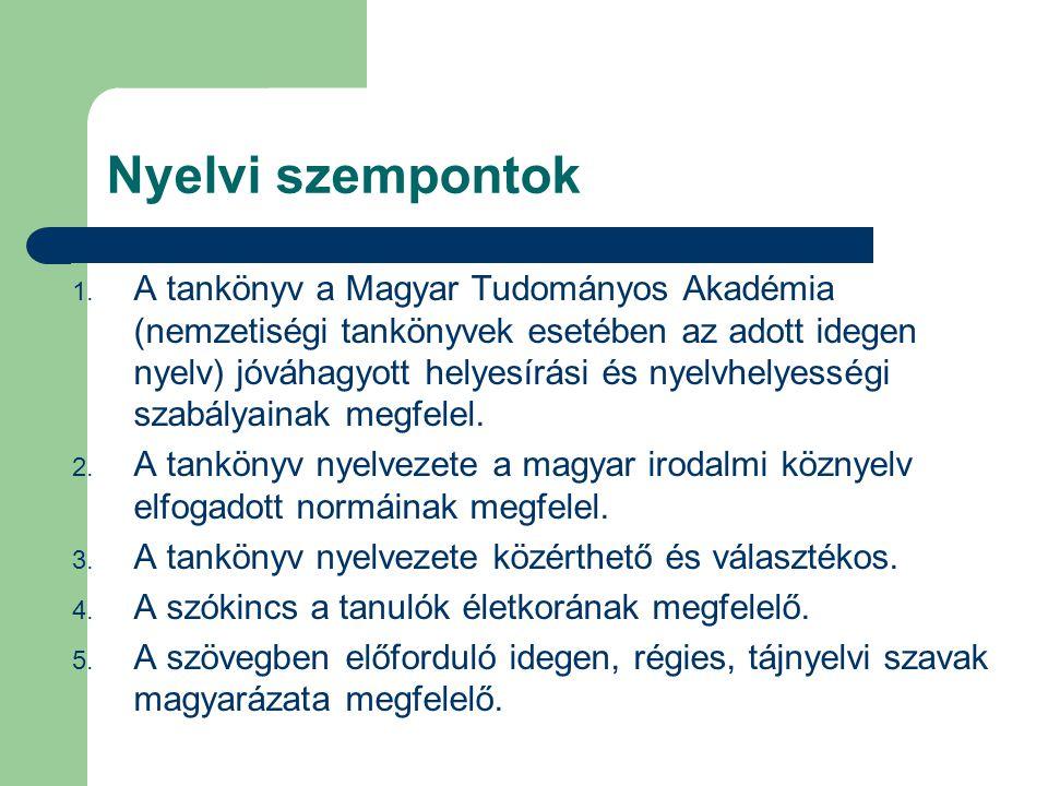 Nyelvi szempontok 1.