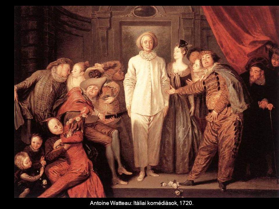 Antoine Watteau: Itáliai komédiások, 1720.