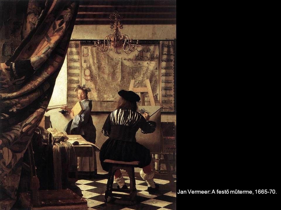 Jan Vermeer: A festő műterme, 1665-70.