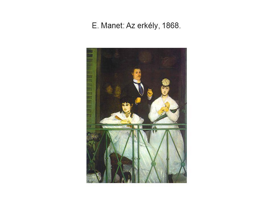 E. Manet: Az erkély, 1868.