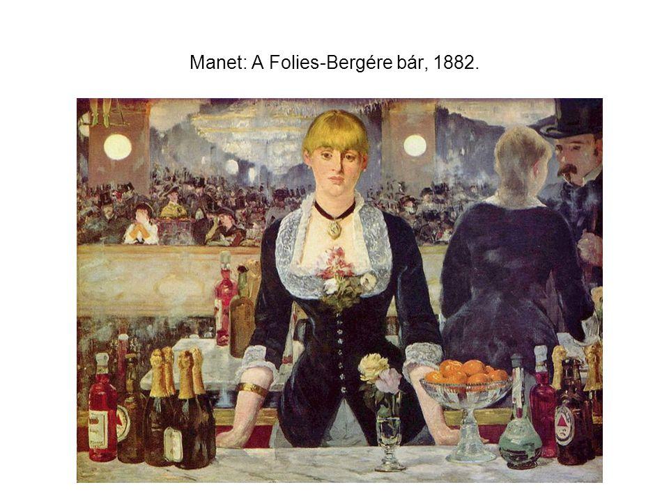 Manet: A Folies-Bergére bár, 1882.