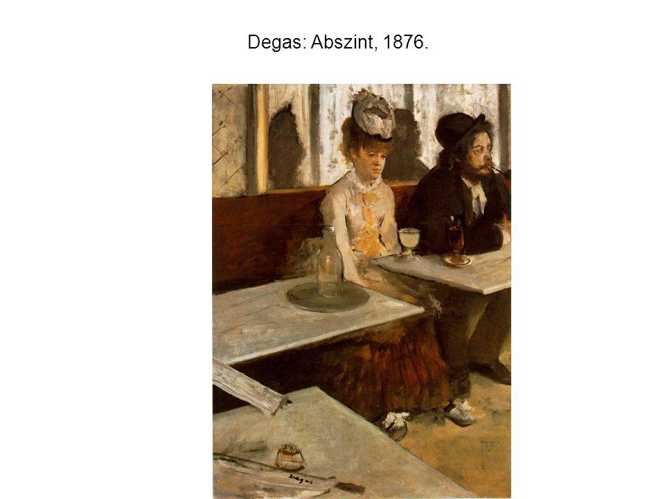 Degas: Abszint, 1876.