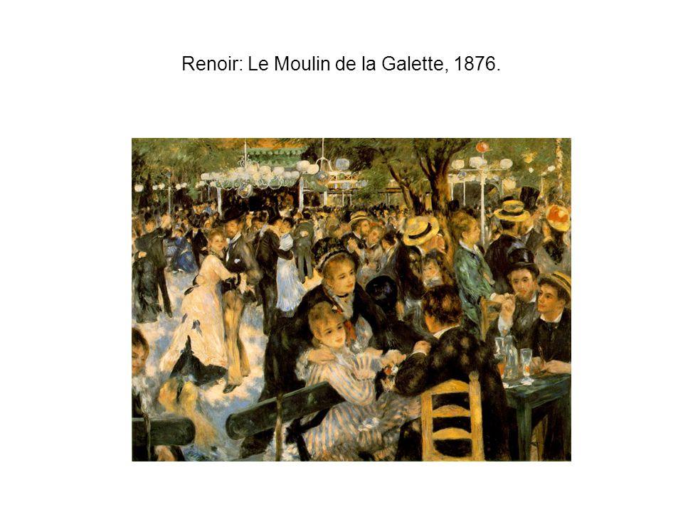 Renoir: Le Moulin de la Galette, 1876.