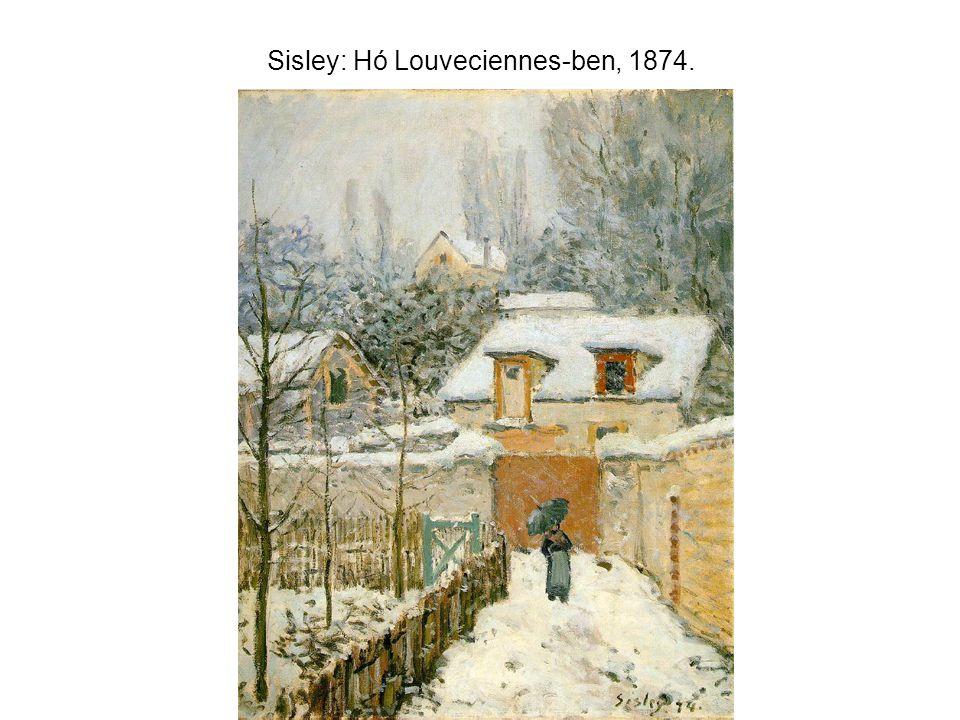 Sisley: Hó Louveciennes-ben, 1874.