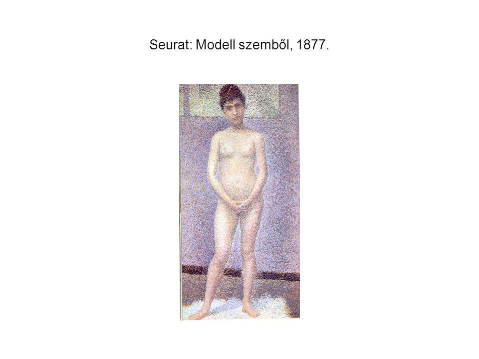 Seurat: Modell szemből, 1877.