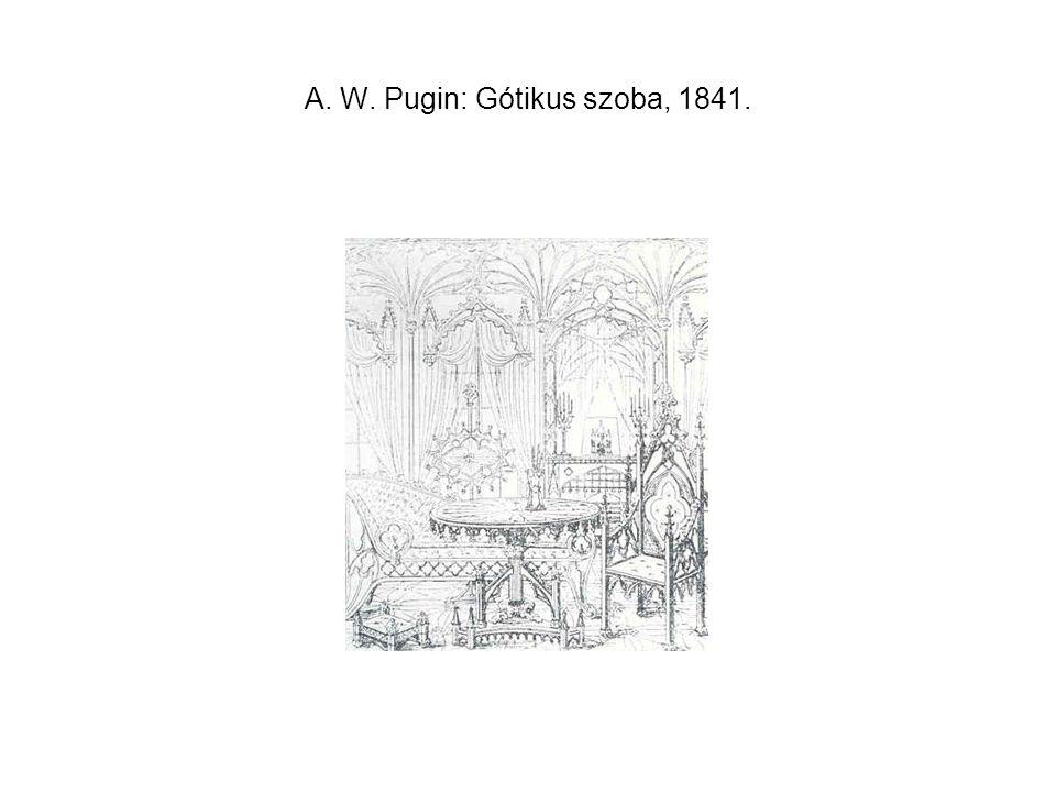 A. W. Pugin: Gótikus szoba, 1841.