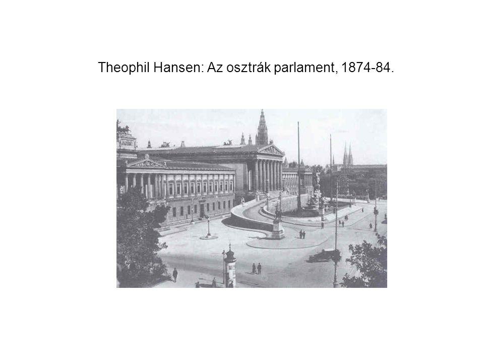 Theophil Hansen: Az osztrák parlament, 1874-84.