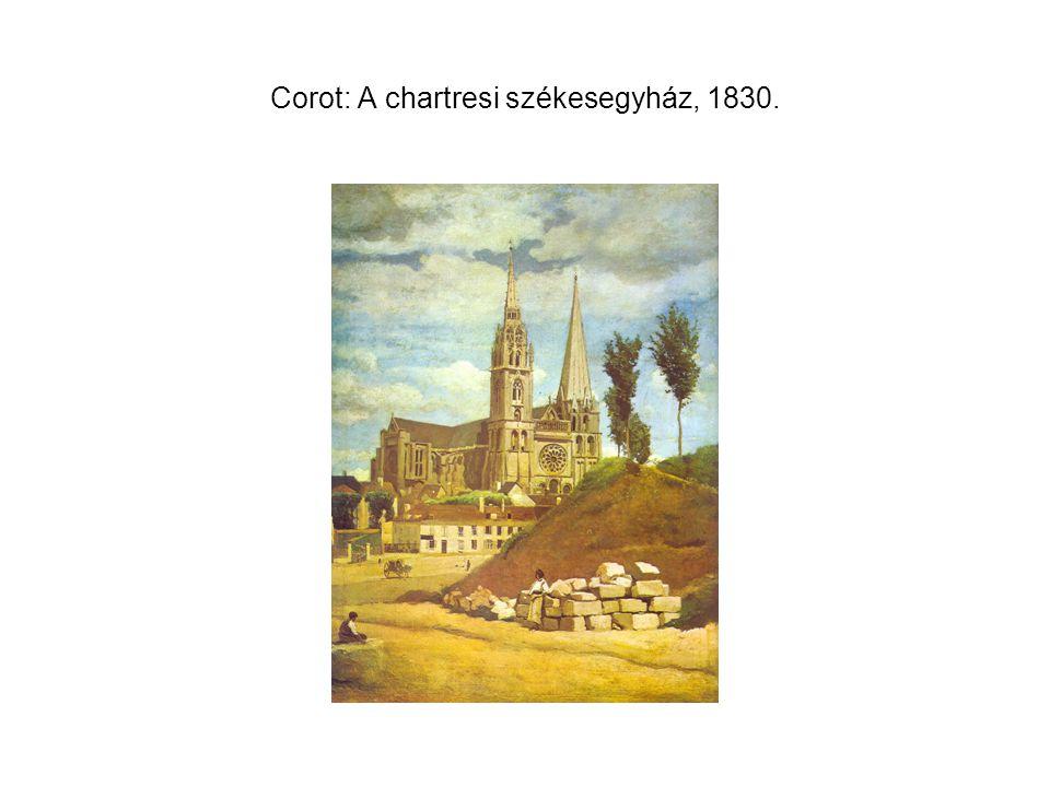 Corot: A chartresi székesegyház, 1830.