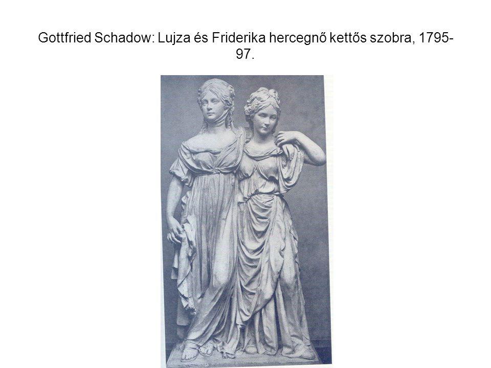 Gottfried Schadow: Lujza és Friderika hercegnő kettős szobra, 1795- 97.