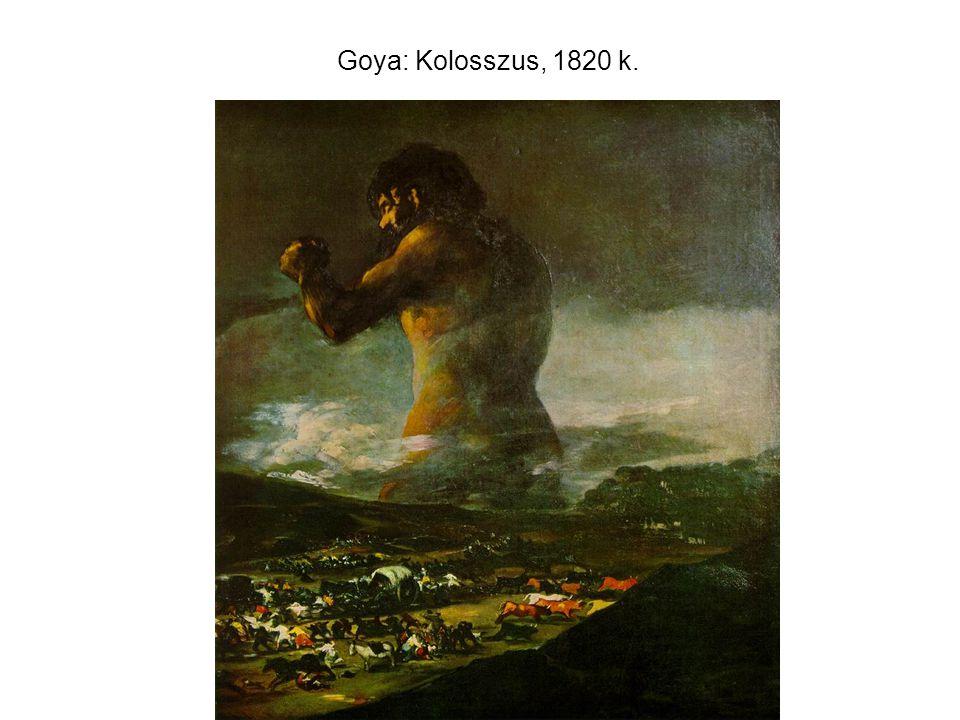 Goya: Kolosszus, 1820 k.