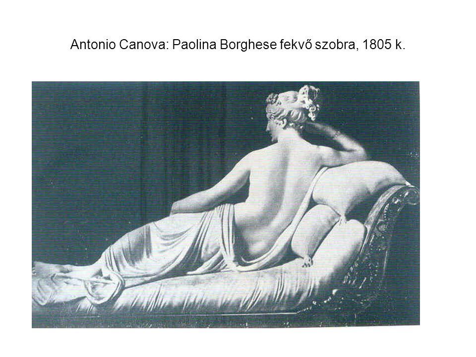 Antonio Canova: Paolina Borghese fekvő szobra, 1805 k.