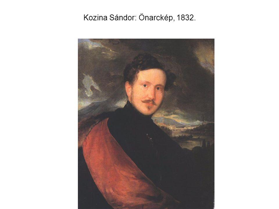 Kozina Sándor: Önarckép, 1832.