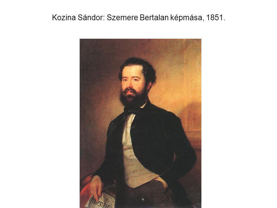 Kozina Sándor: Szemere Bertalan képmása, 1851.