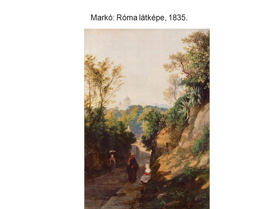 Markó: Róma látképe, 1835.