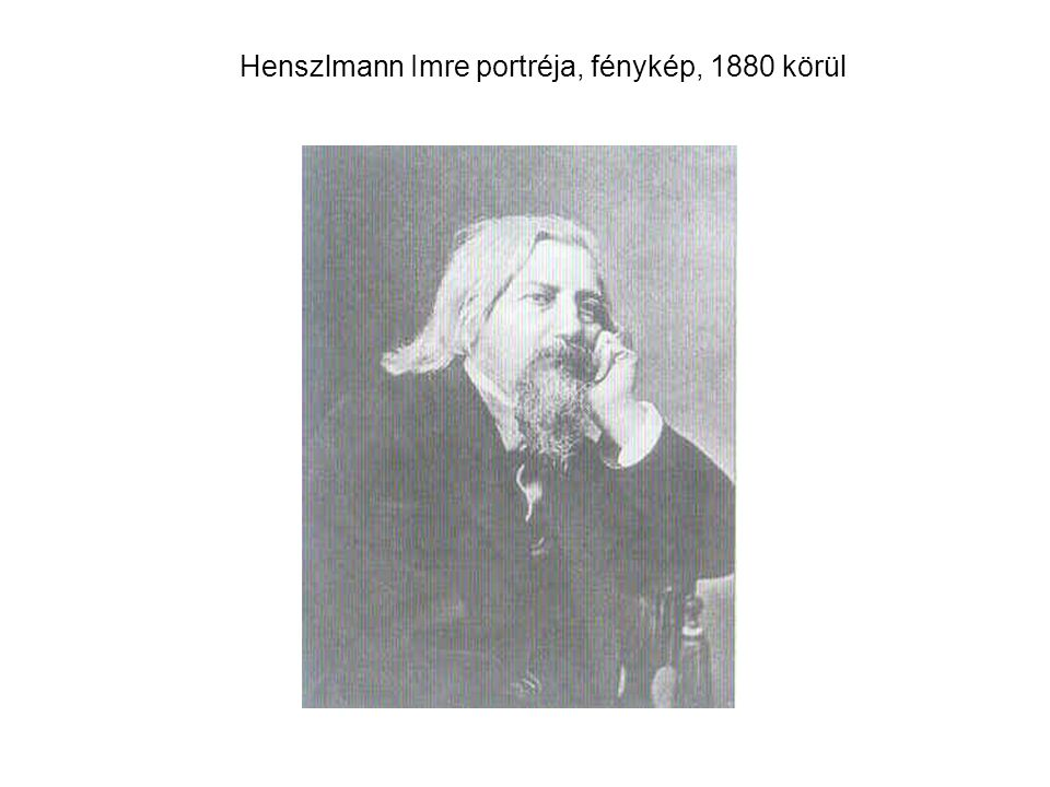 Henszlmann Imre portréja, fénykép, 1880 körül