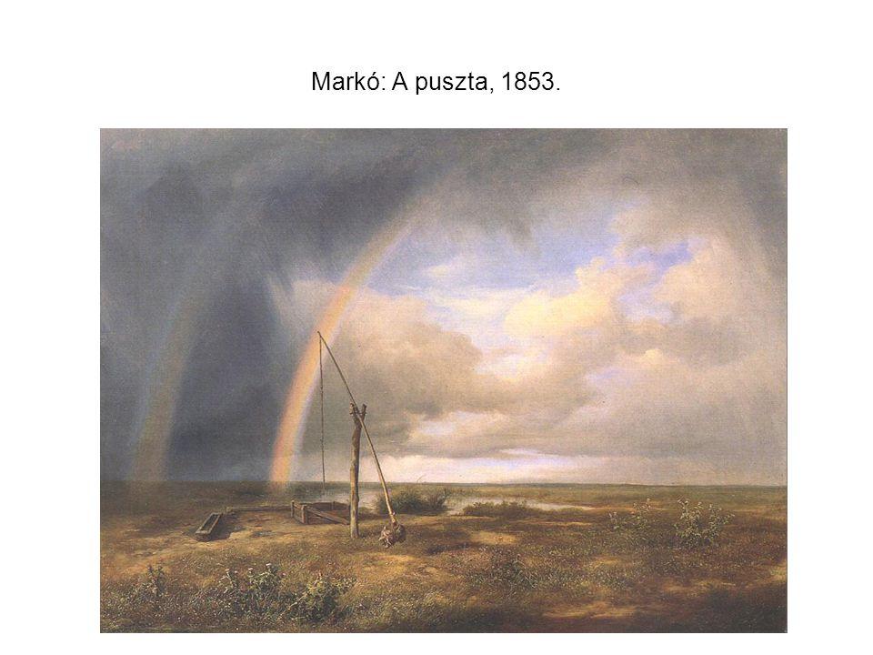 Markó: A puszta, 1853.