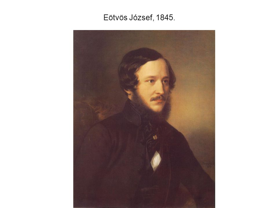 Eötvös József, 1845.