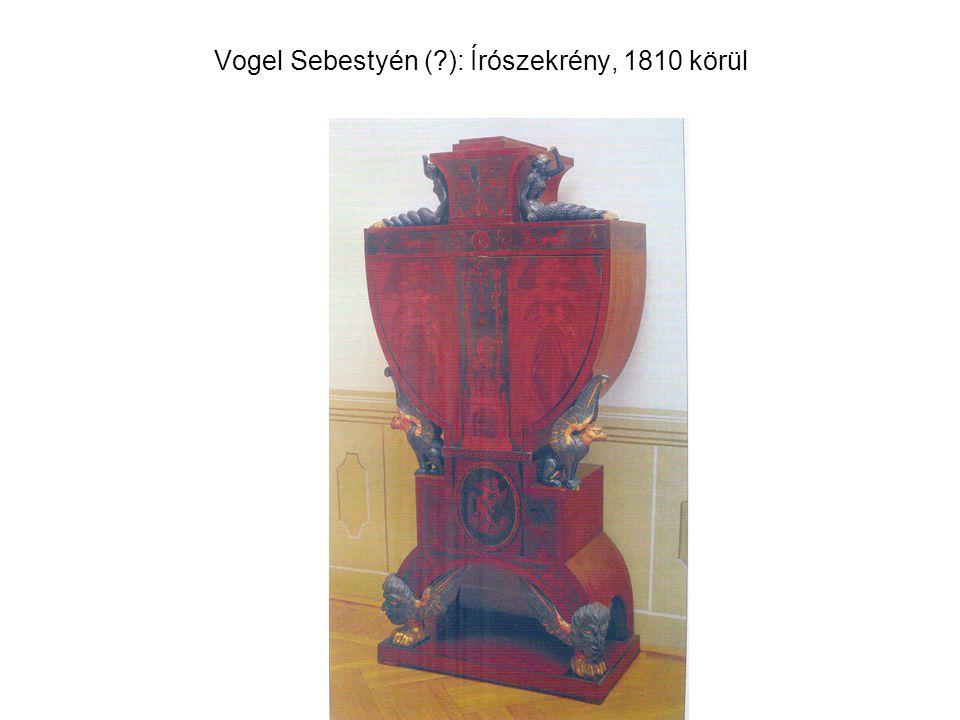 Vogel Sebestyén (?): Írószekrény, 1810 körül