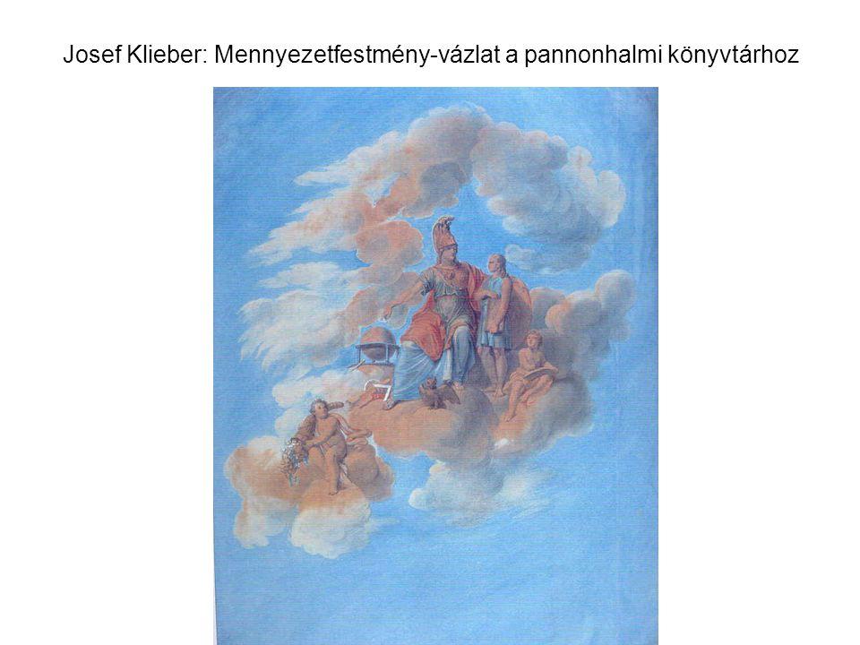 Josef Klieber: Mennyezetfestmény-vázlat a pannonhalmi könyvtárhoz