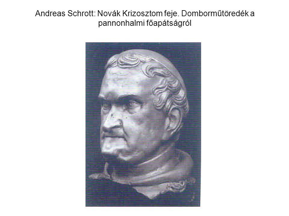 Andreas Schrott: Novák Krizosztom feje. Domborműtöredék a pannonhalmi főapátságról