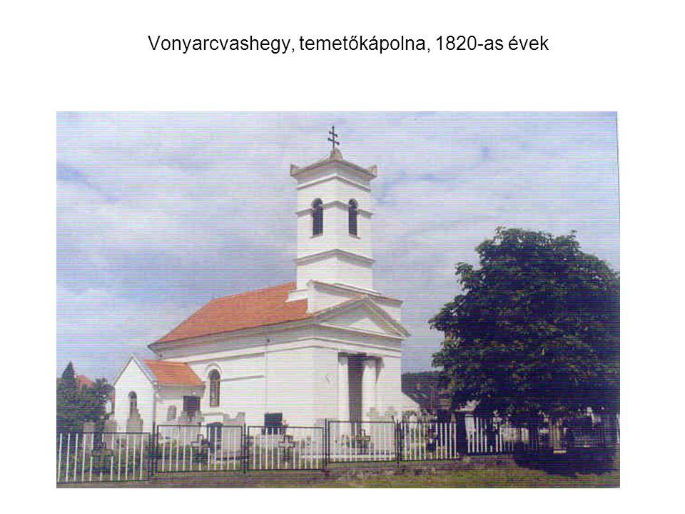 Vonyarcvashegy, temetőkápolna, 1820-as évek