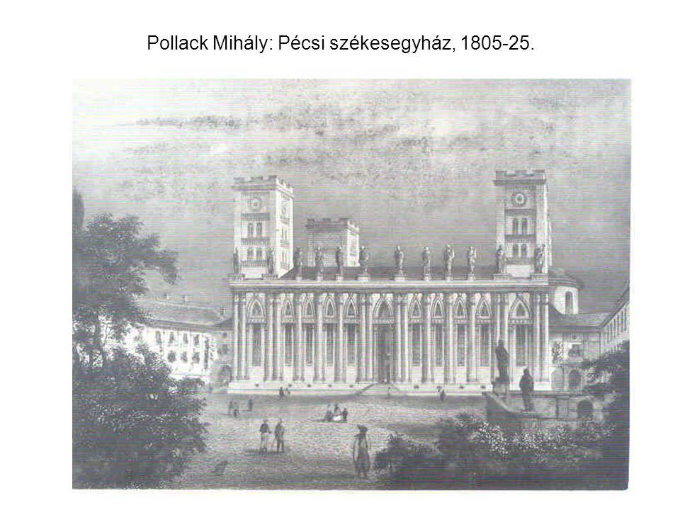 Pollack Mihály: Sárospatak, református kollégium, könyvtár, 1820-as évek