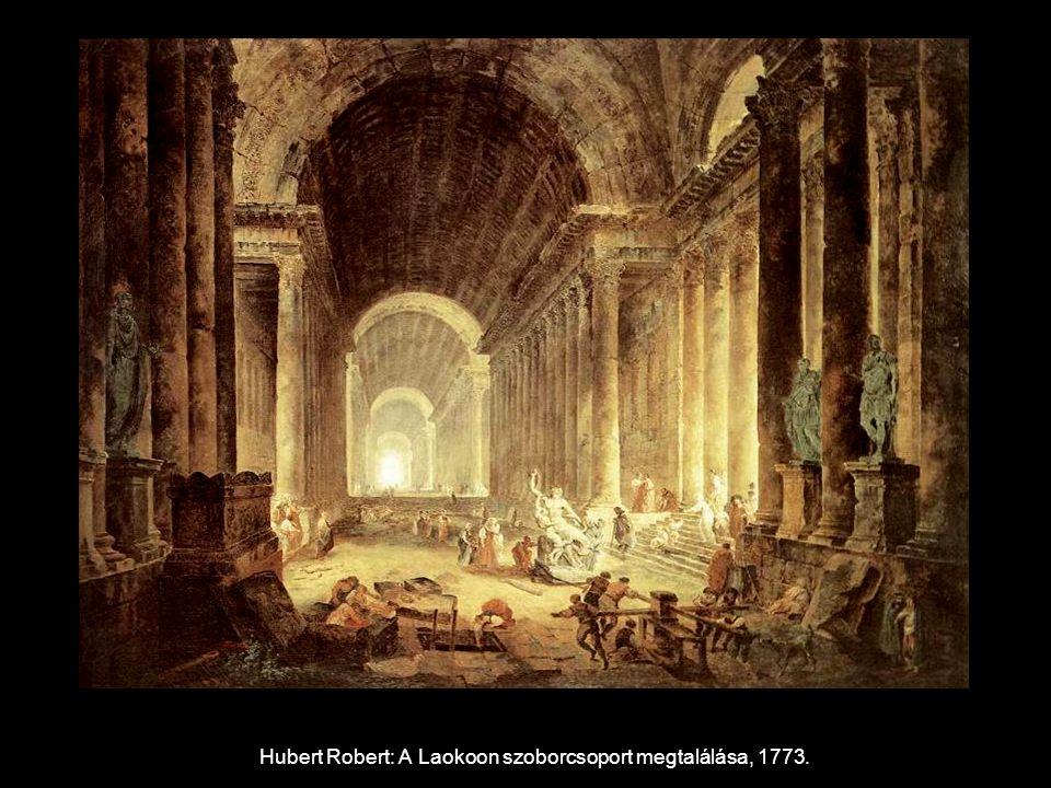 Hubert Robert: A Laokoon szoborcsoport megtalálása, 1773.