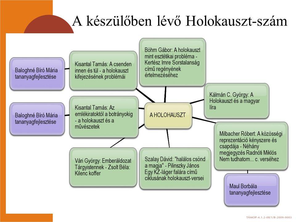 A készülőben lévő Holokauszt-szám
