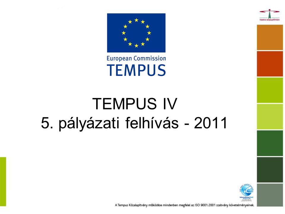 Közös képzések – elnyerhető támogatás 5 évfolyam (MC: 1+6 év; JD: 1+8 év) 4-5 millió € összes támogatás évente várhatóan 15 új MC, 12 új JD, 21 megújítás MesterképzésDoktori képzés Működési támogatás30000 €/évf.50000 €/évf.