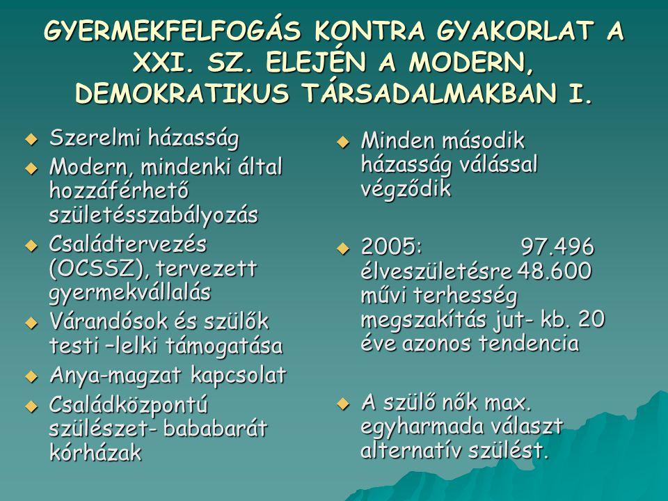 GYERMEKFELFOGÁS KONTRA GYAKORLAT A XXI.SZ. ELEJÉN A MODERN, DEMOKRATIKUS TÁRSADALMAKBAN I.