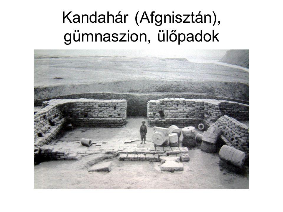 Kandahár (Afgnisztán), gümnaszion, ülőpadok