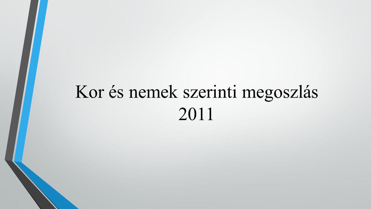 A népesség korcsoport és nemek szerint, 2011 Férfi
