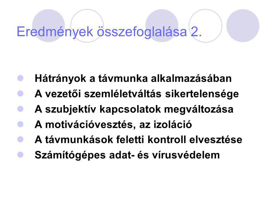 Eredmények összefoglalása 3.