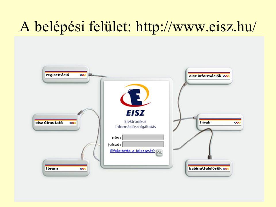 A belépési felület: http://www.eisz.hu/