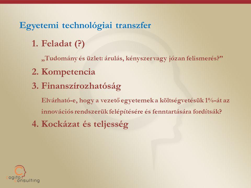 """Egyetemi technológiai transzfer 1.Feladat (?) """"Tudomány és üzlet: árulás, kényszer vagy józan felismerés? 2."""