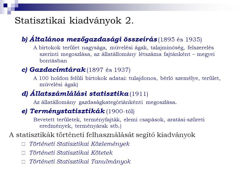 Statisztikai kiadványok 2.