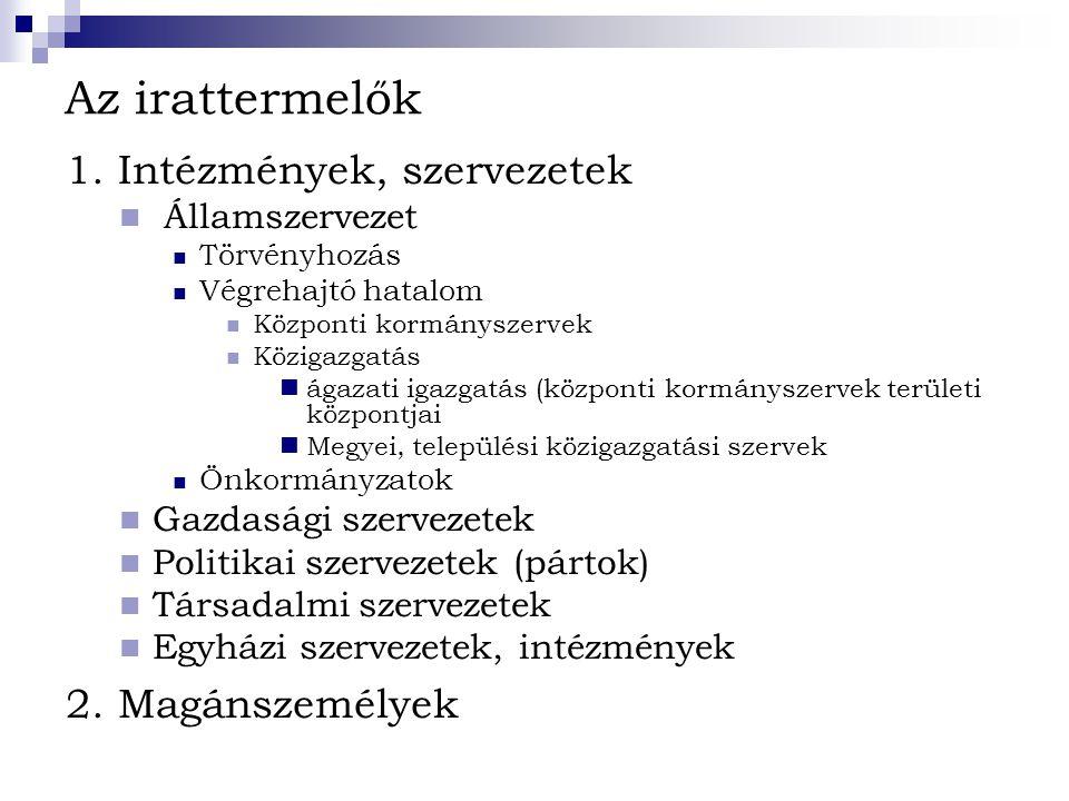 A korszak iratait tartalmazó legfontosabb fondok a Magyar Országos Levéltárban