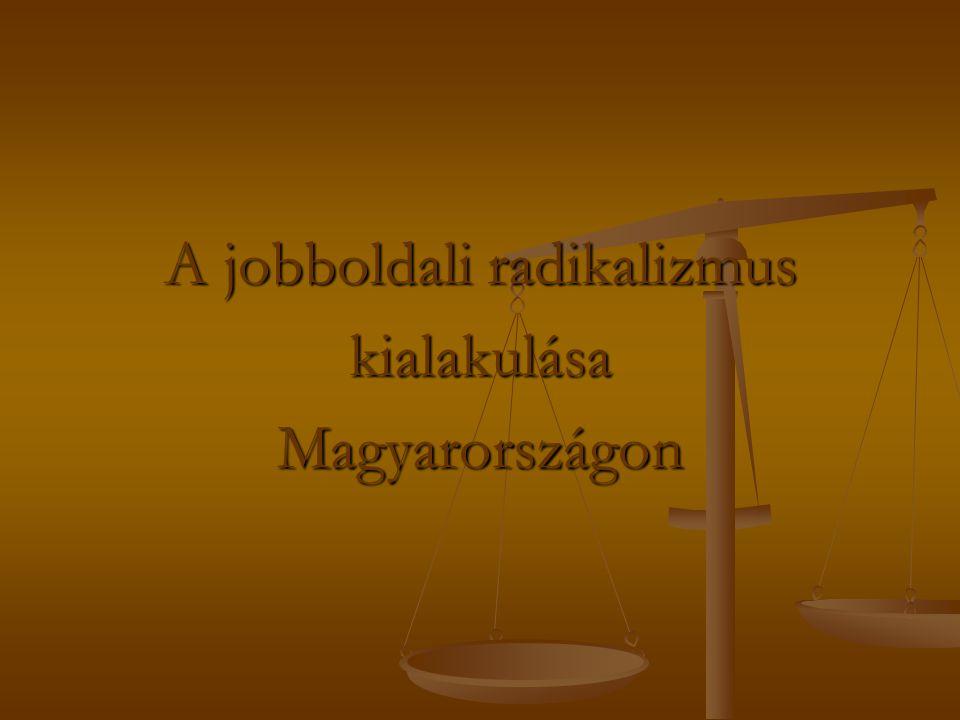 A jobboldali radikalizmus kialakulásaMagyarországon
