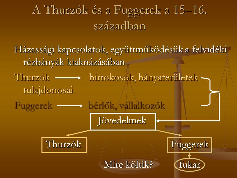 A Thurzók és a Fuggerek a 15–16.