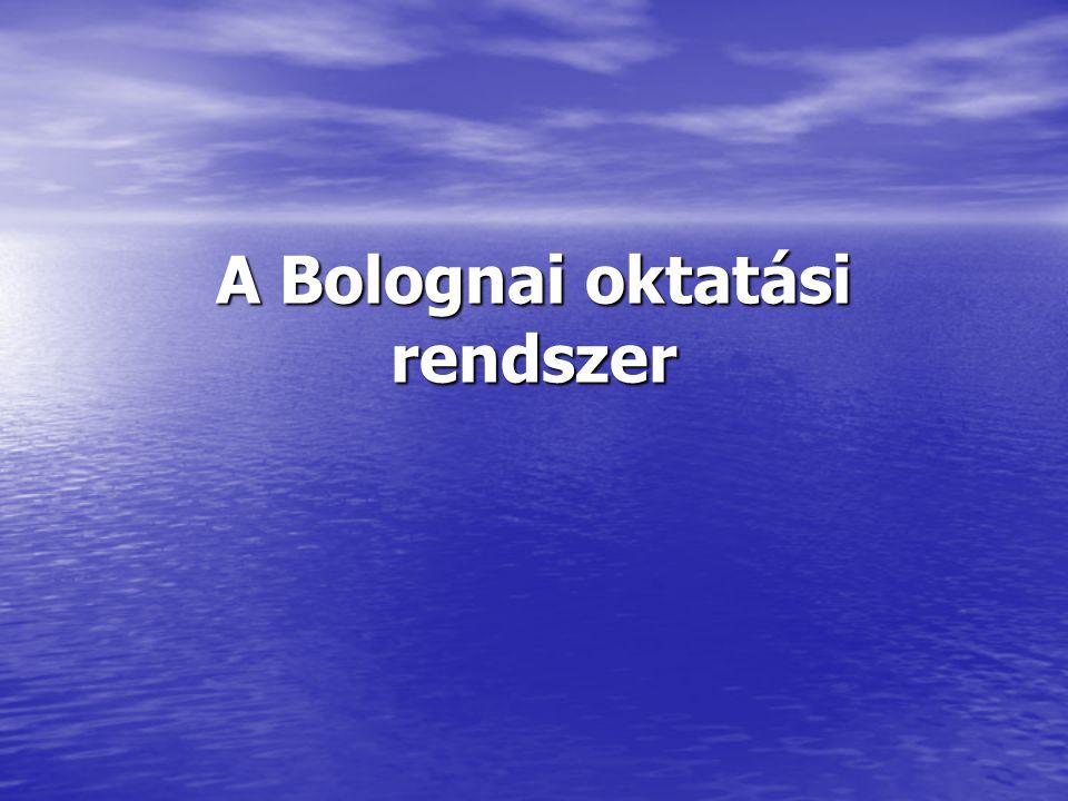 A témával kapcsolatos problémák: Mi az, hogy Bolognai folyamat, milyen problémák hívták életre.