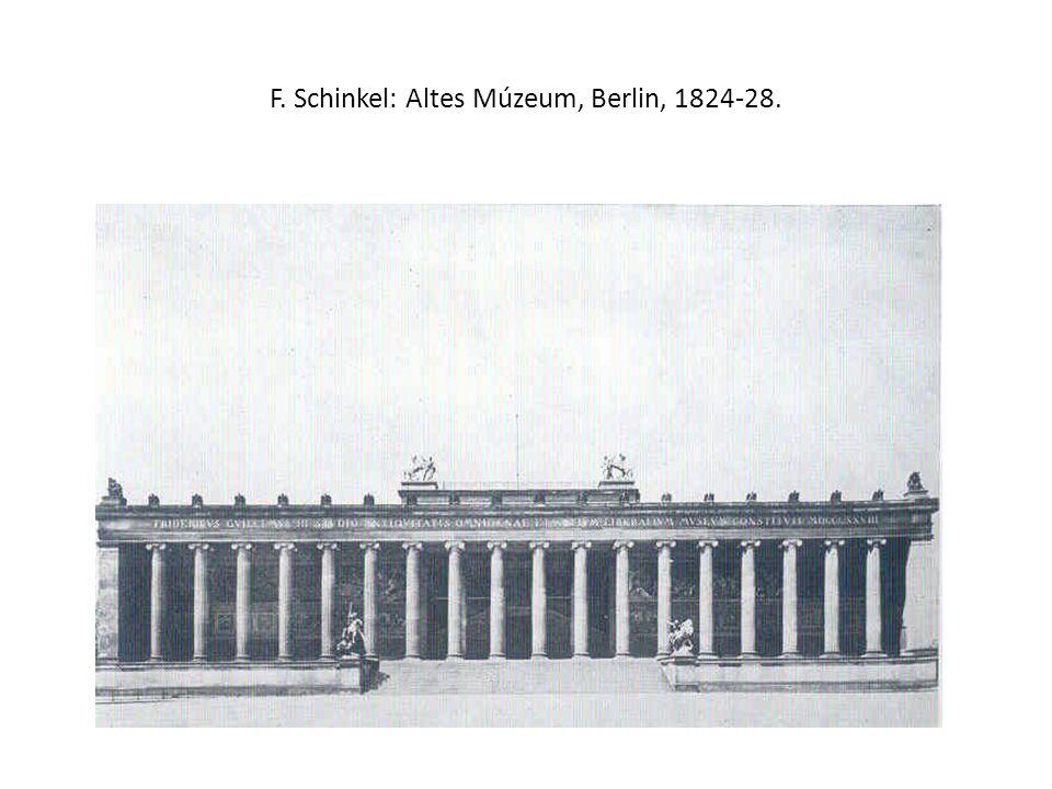 F. Schinkel: Altes Múzeum, Berlin, 1824-28.