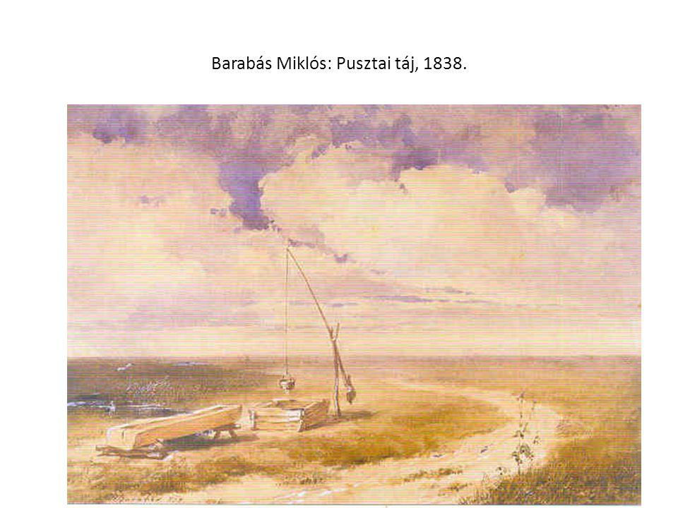 Barabás Miklós: Pusztai táj, 1838.