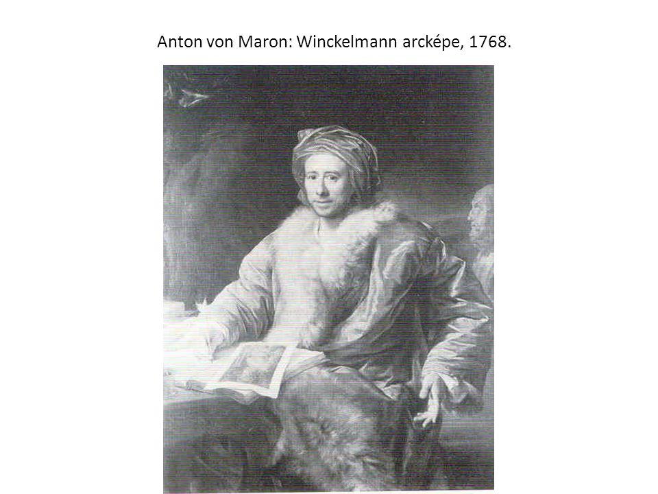 Anton von Maron: Winckelmann arcképe, 1768.