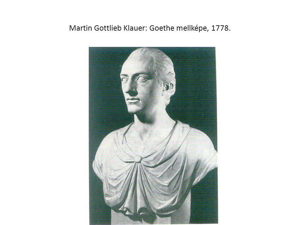 Martin Gottlieb Klauer: Goethe mellképe, 1778.