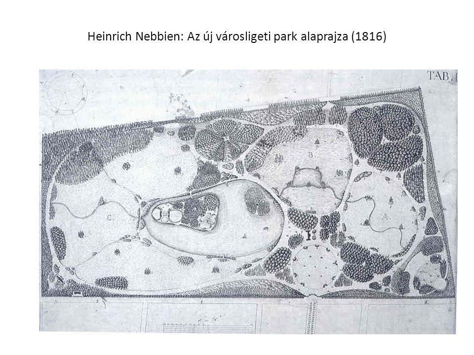 Heinrich Nebbien: Az új városligeti park alaprajza (1816)